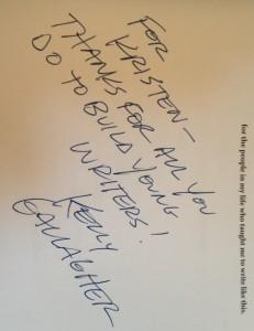 Kelly Gallagher Signature (c) Kristen Dembroski