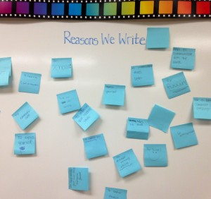 Writing Reasons (c) Kristen Dembroski