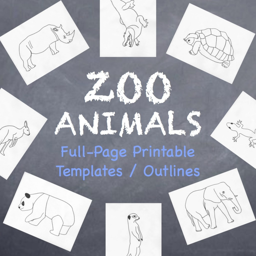 Zoo Animals Coloring Book (c) Kristen Dembroski