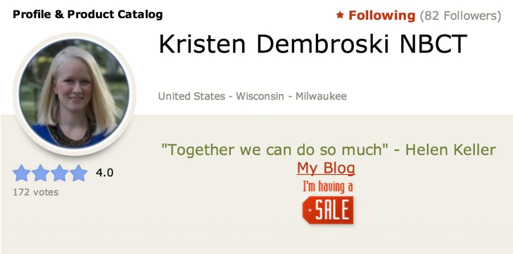 (c) Kristen Dembroski NBCT
