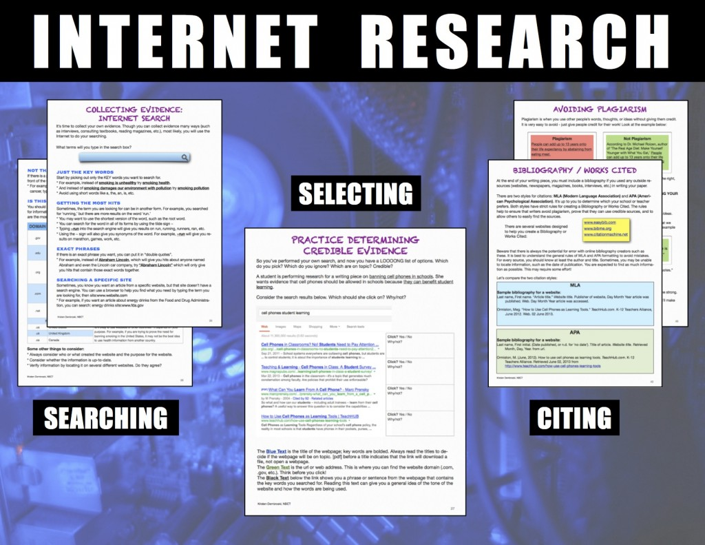 citing internet sources in research papers @