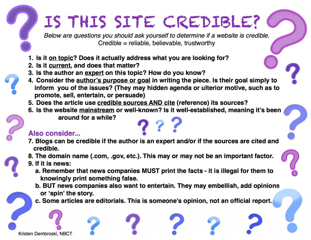Is it Credible (c) Kristen Dembroski
