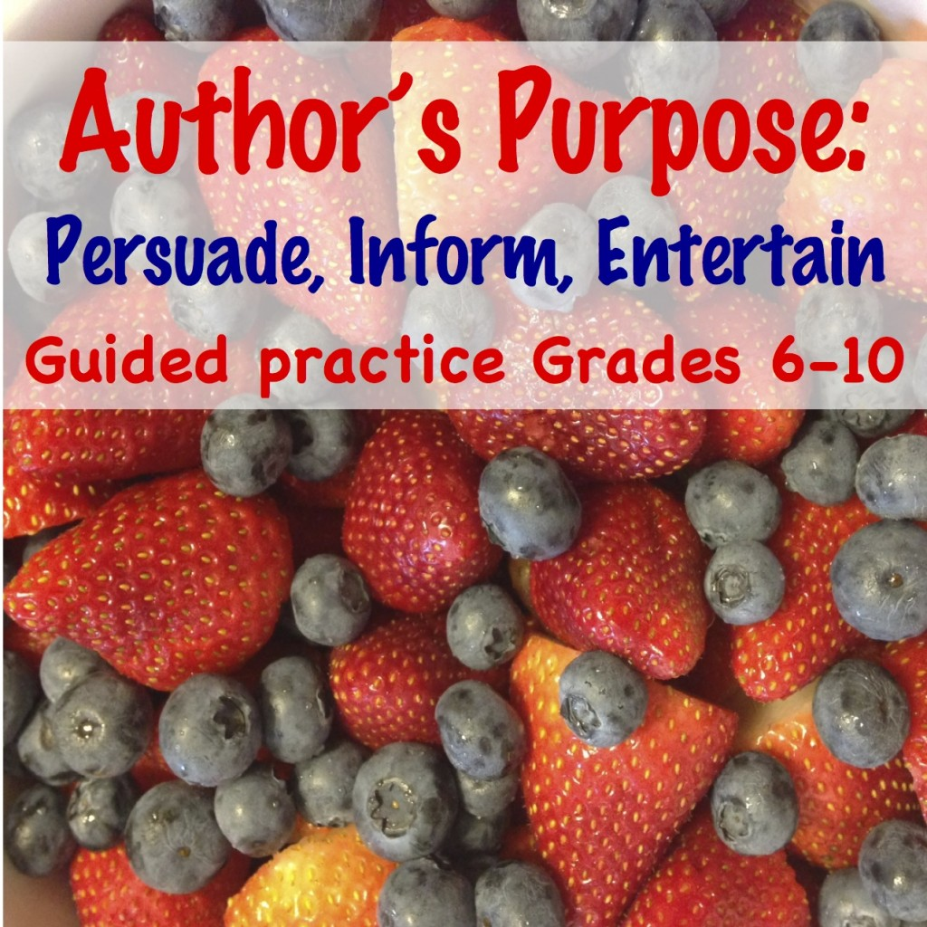 Author's Purpose (c) Kristen Dembroski