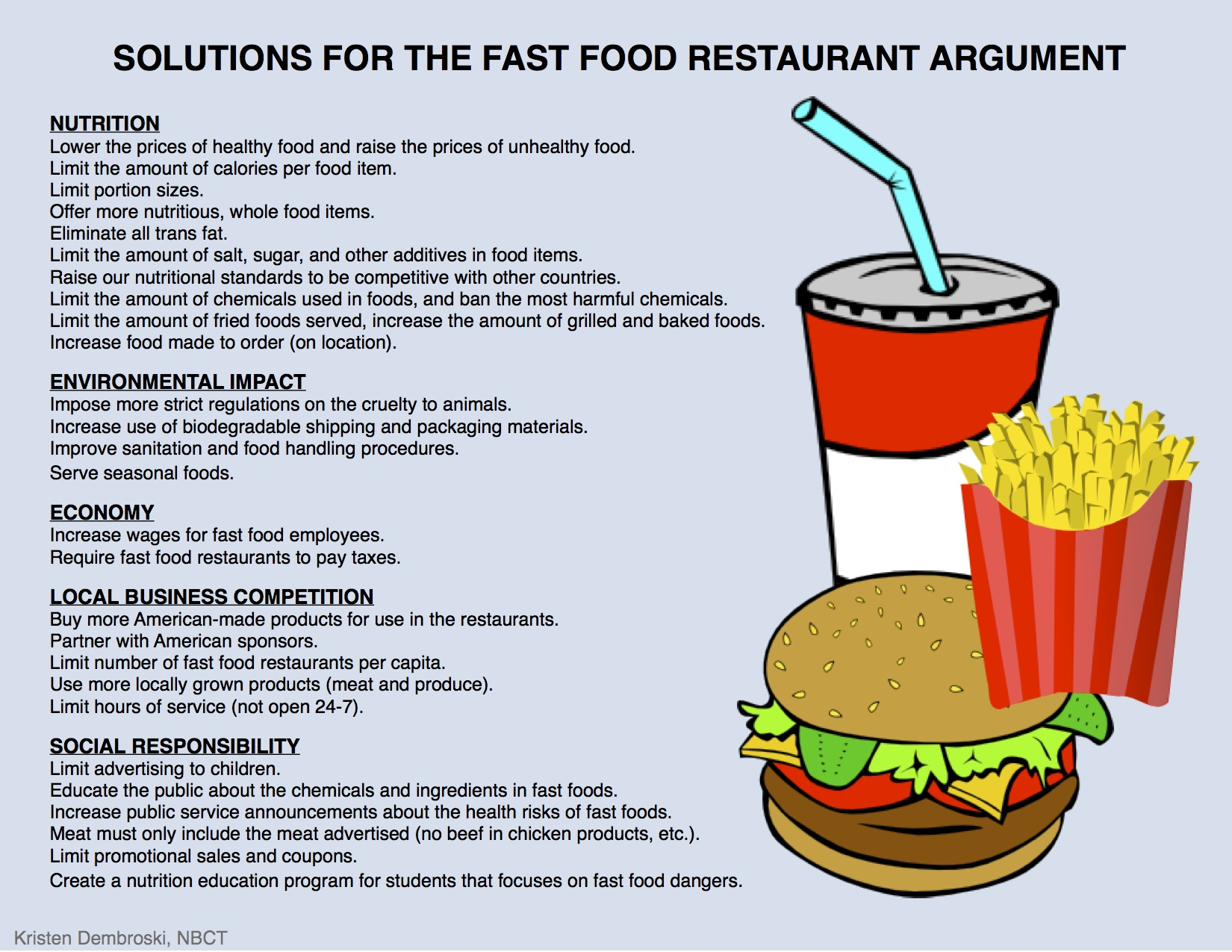 argument on fast food Free fast food papers, essays, and research papers.