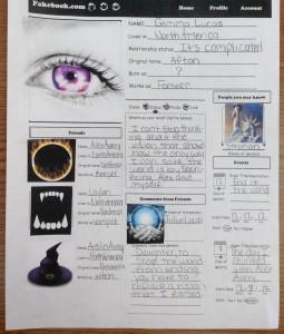 Fakebook Project (c) Kristen Dembroski