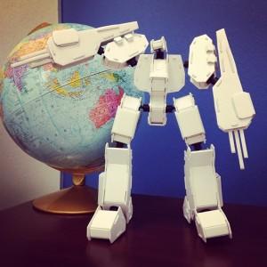 Dembrobot loves Geography (c) Kristen Dembroski