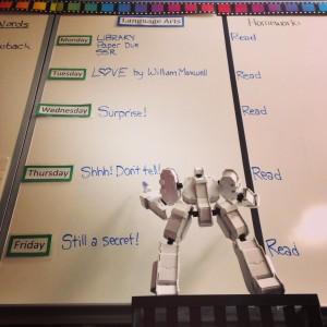 Dembrobot Plans a Secret Surprise (c) Kristen Dembroski