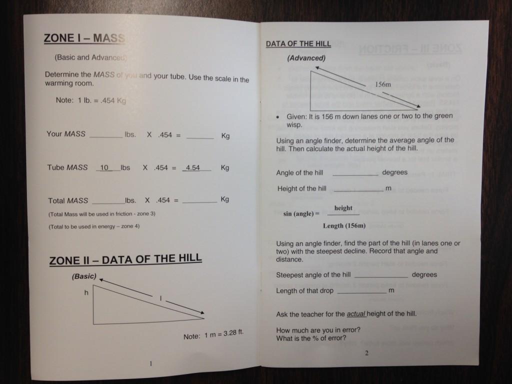 Measuring Mass Science of Tubing (c) Kristen Dembroski