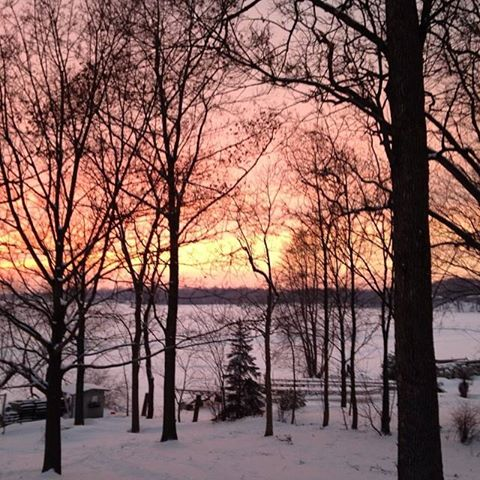 Winter Sunset on the Lake (c) Kristen Dembroski
