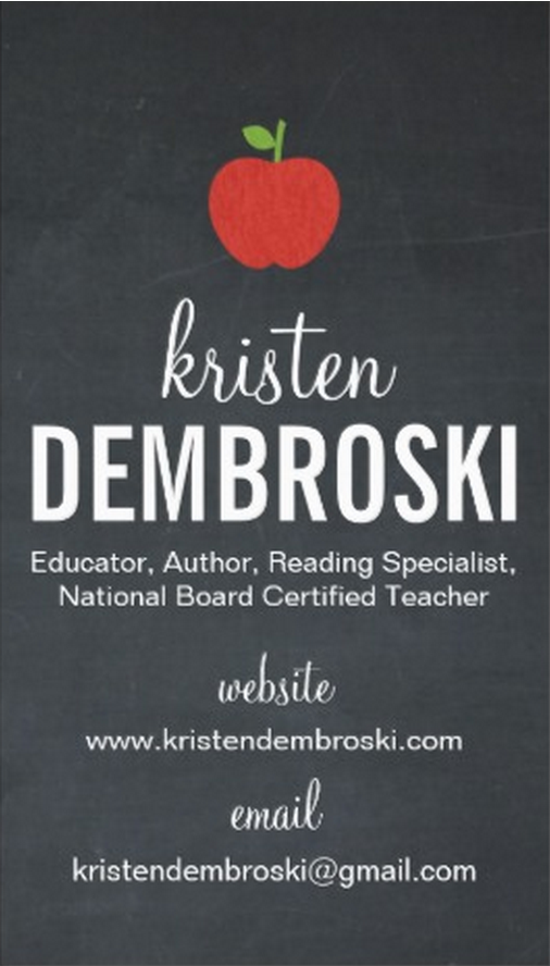 Business Card (c) Kristen Dembroski