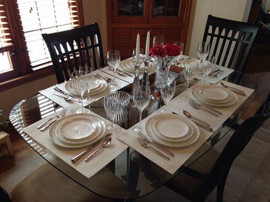 Fancy Table Setting (c) Kristen Dembroski