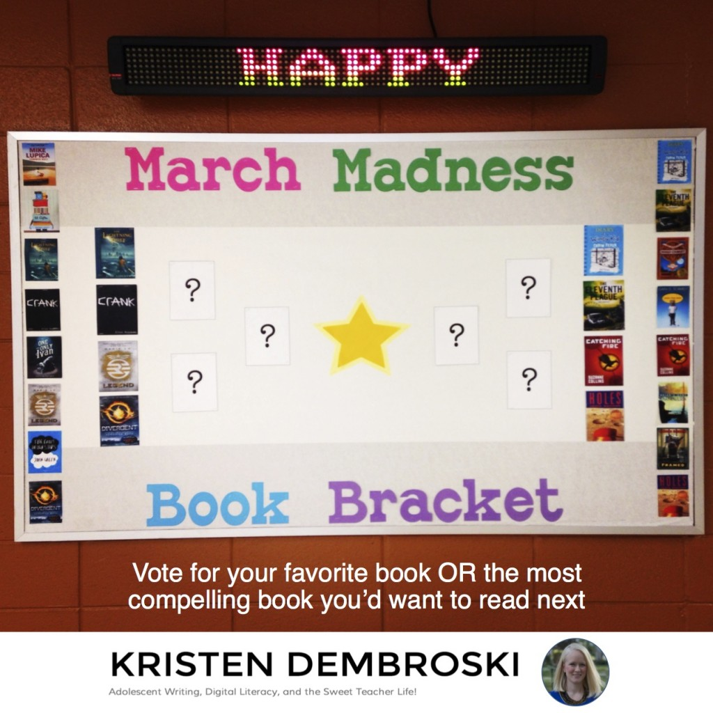 Elite Eight Book Bracket March Madness (c) Kristen Dembroski