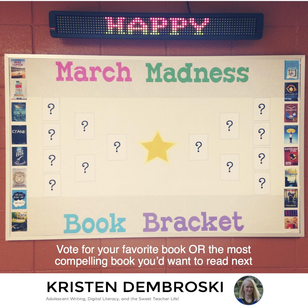 March Madness Book Bracket | Kristen Dembroski, Ph.D.