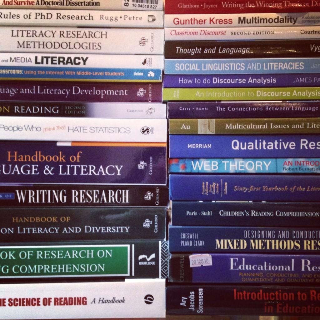 PhD Books (c) Kristen Dembroski