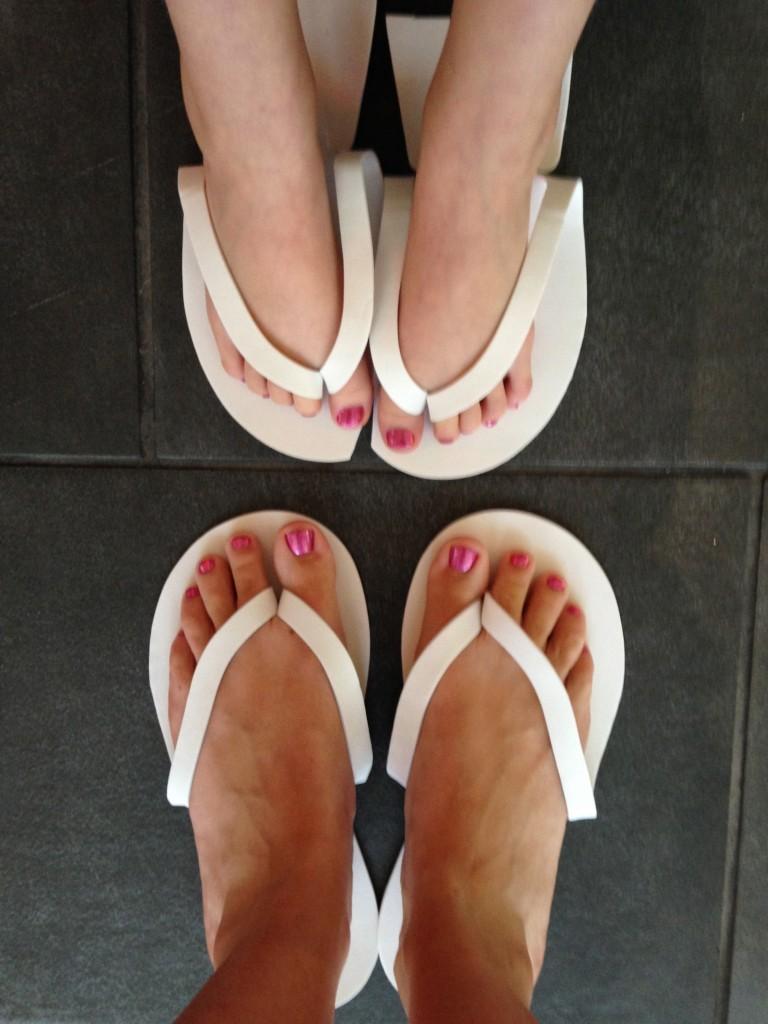 Aunt Niece Pedicures (c) Kristen Dembroski