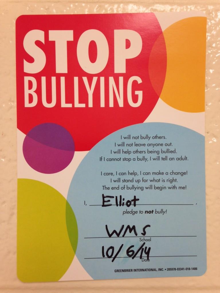 Stop Bullying Pledge (c) Kristen Dembroski