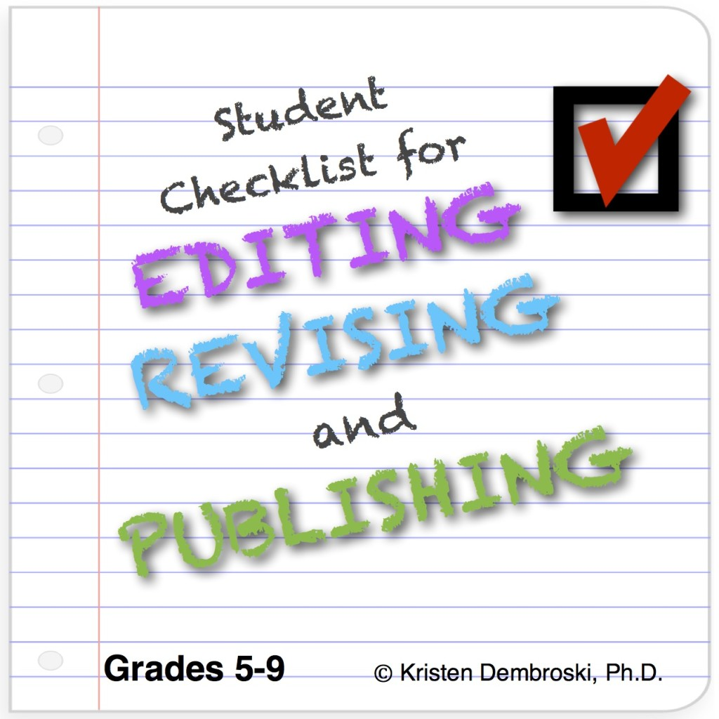 Editing Checklist Cover Page copy