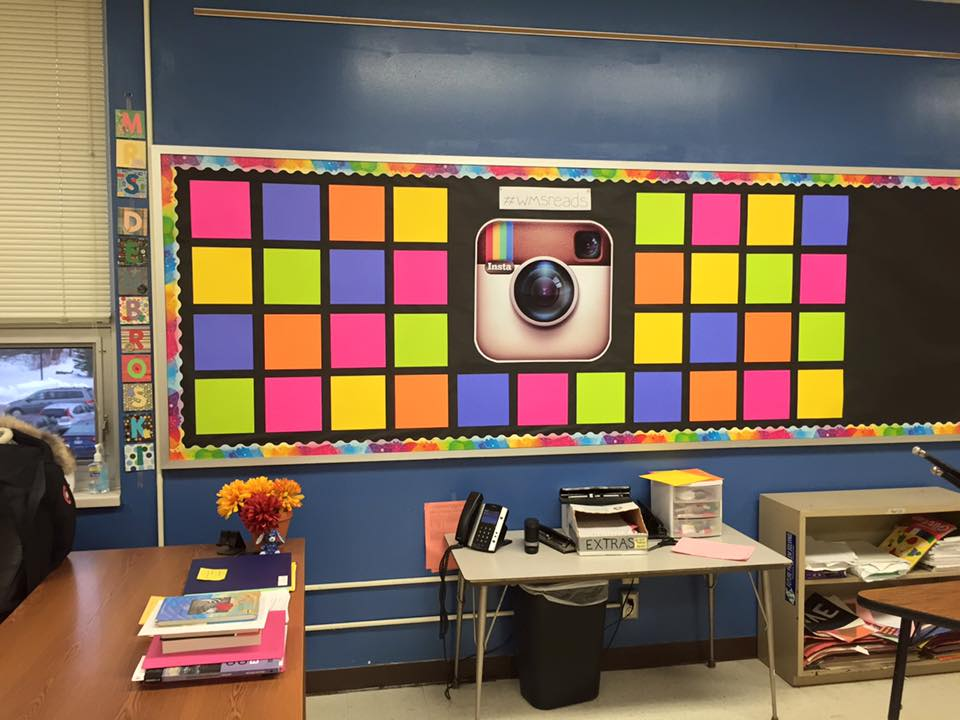 Middle School Reading Classroom Decorations ~ Instagram reading bulletin board kristen dembroski ph d