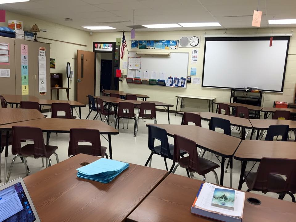 My first day, waiting for my students to arrive.