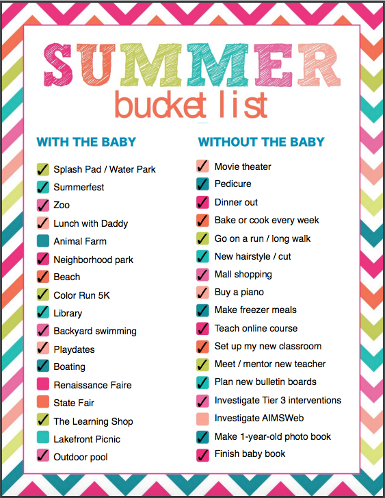Summer Bucket List 2016 (c) Kristen Dembroski